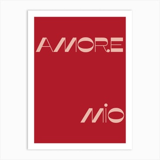Amore Mio Art Print