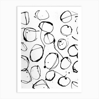 Ink Circles Art Print