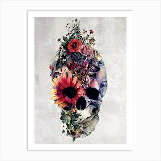 Two Face Skull 2 Art Print