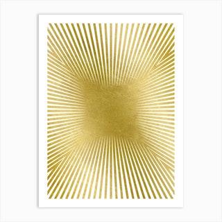 Converge Heavy Gold Art Print