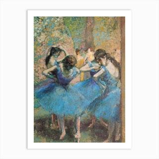 Dancers In Blue, 1890 by Edgar Degas Art Print