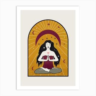 Yoga Girl Art Print