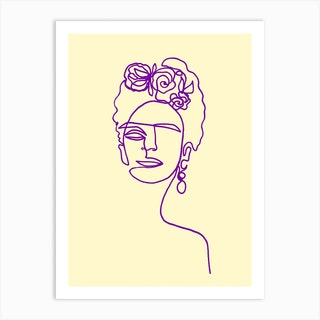 Frida Kahlo Yellow Art Print