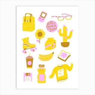 Yellow Composition Art Print