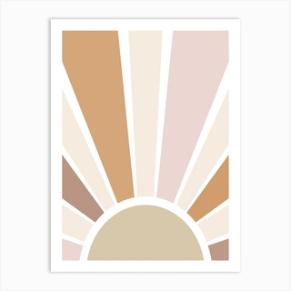 Retro Sun Art Print