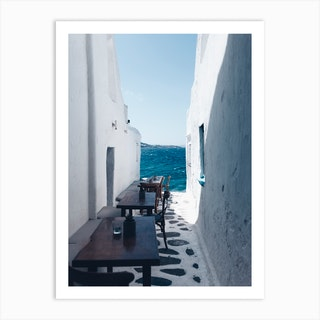 Small Streets Of Mykonos Art Print