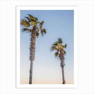 Barcelona Palm Trees Art Print