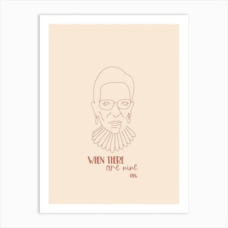 Rbg When There Are Nine Art Print