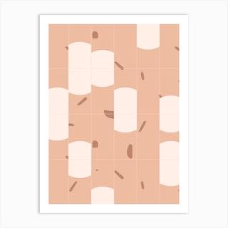 Earthy Tiles 03 Art Print