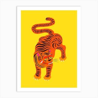 Tiger Yellow Art Print