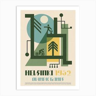 1952 Olympics Helsinki Art Print