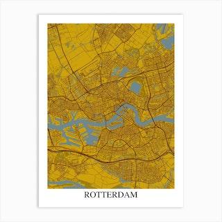Rotterdam Yellow Blue Art Print