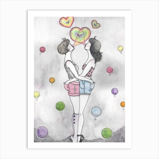 Bubble Love Art Print