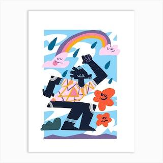 Rain Dance Art Print