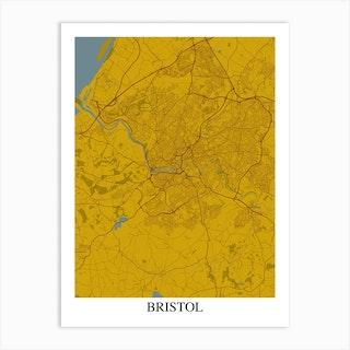 Bristol Yellow Blue Art Print