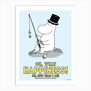 The Moomin Collection Happiness Art Print