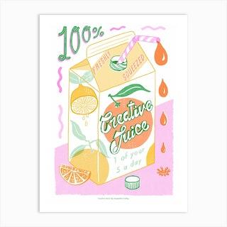 Creative Juice Layers Art Print