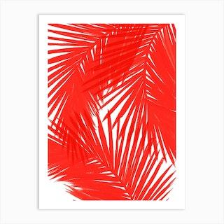 Red Palms Art Print