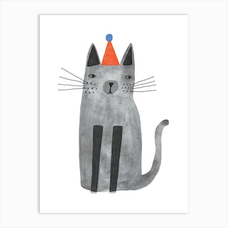 Cat With The Hat Art Print