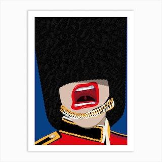 Screaming Royal Guard Art Print