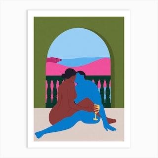 Baecation Art Print
