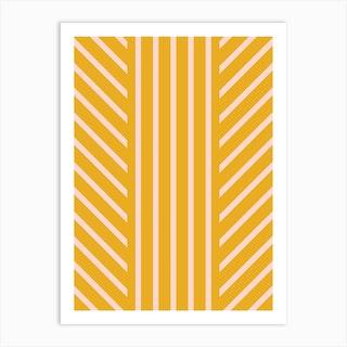 Lined Marigold Art Print
