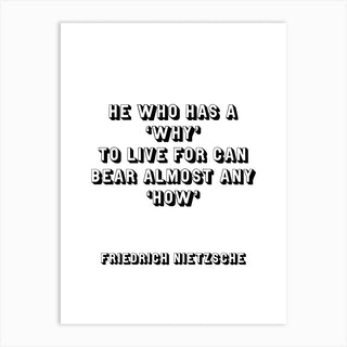 Nietzsche Quote Art Print