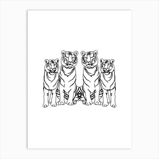 Single Tiger Squad Art Print