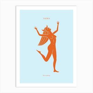 Taurus Zodaic Art Print