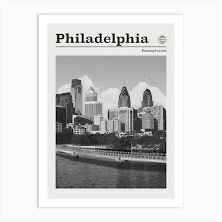 Philadelphia Pennsylvania Black And White Art Print