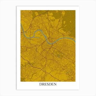 Dresden Yellow Blue Art Print