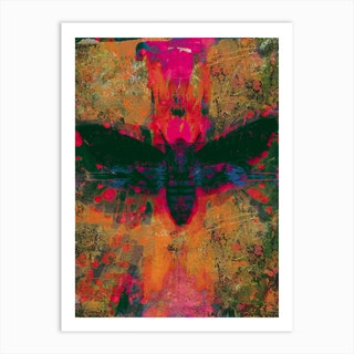 Death Moth Collage Art Print
