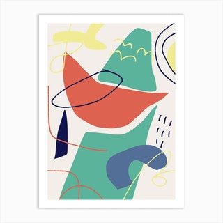 Colorful Abstract Watermelon Art Print