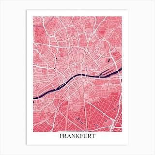 Frankfurt Pink Purple Art Print