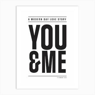 Modern Day Love Story Art Print