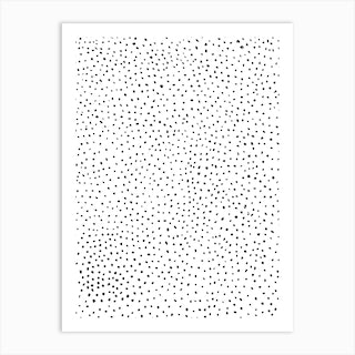 Dotted Black And White Art Print