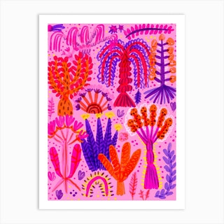Silvana The Pink Forest Art Print