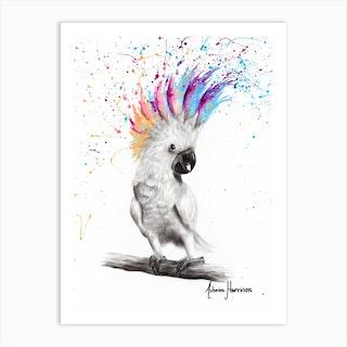 Punk Cockatoo Art Print