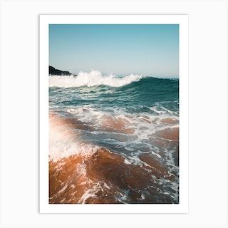 Wavy Ocean Art Print