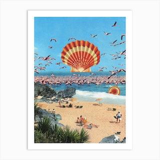 Flamingo Heat Art Print