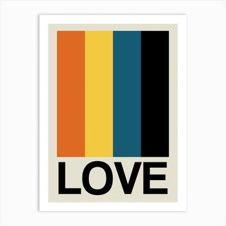Retro Stripe Love Sundaze Art Print