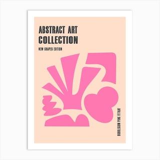Abstract New Shapes Bubblegum Pink Art Print