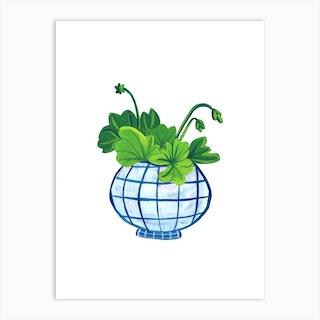 Geranium Plant Art Print