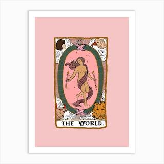 The World Tarot Art Print