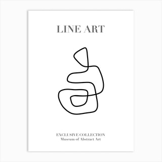 Line Art Abstract Collection 05 Art Print