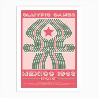 Mexico 1968 Olympic Art Print