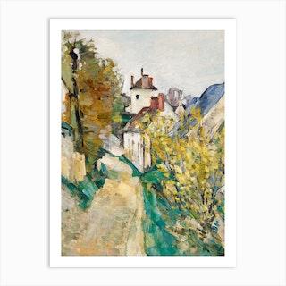 The House of Dr Gachet in Auvers-sur-Oise, Paul Cézanne Art Print