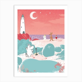 The Moomin Collection Treasure Hunt Art Print