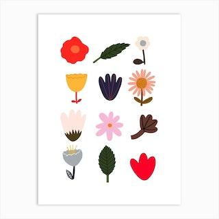 Flowers In White Art Print