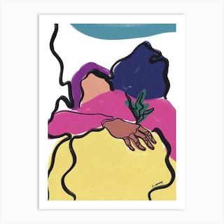 Purple Hug Art Print
